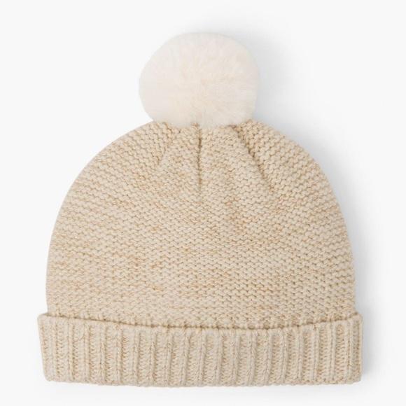 NWT Gymboree Baby Girls Sweater Knit Hat New Winter POM POM